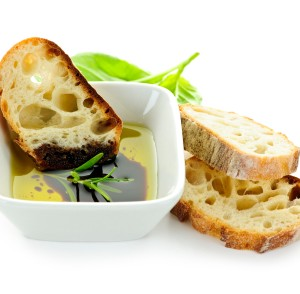 Bread olive oil and vinegar